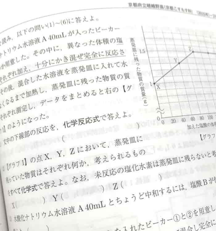 嵯峨野高校こすもす理科過去問