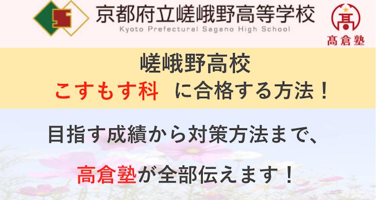 嵯峨野高校こすもす科に合格する方法を塾長が徹底図解!戦略から具体例まで、今やるべきことを全て伝えます!